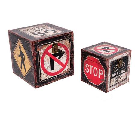 Set 2 kutije s poklopcem Trafico