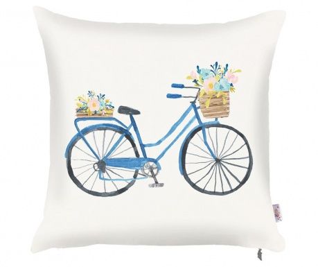 Prevleka za blazino Bike with Flowers 43x43 cm