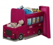 Kutija za pohranu igračaka s poklopcem Red School Bus