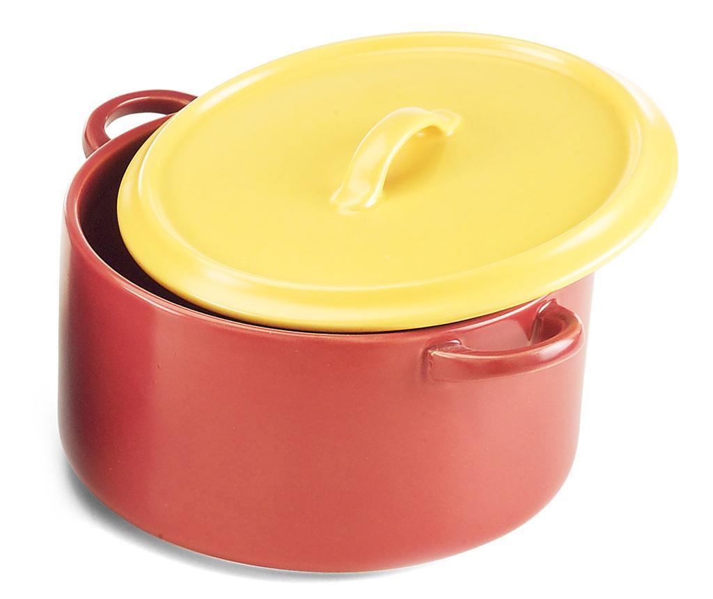 Ricky Red Yellow Sütőedény fedővel