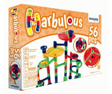 Joc de construit 56 piese Marbulos