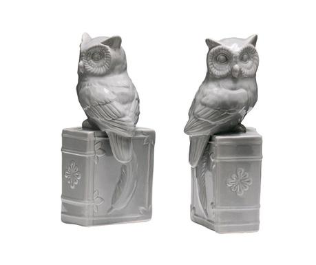 Set 2 suporturi pentru carti Owls on Books
