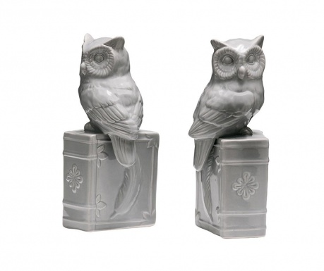 Owls on Books 2 darab Könyvtámasz
