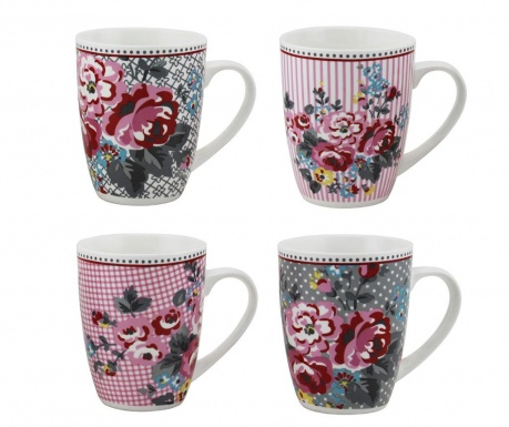 Set of 4 mugs Pippa 300 ml