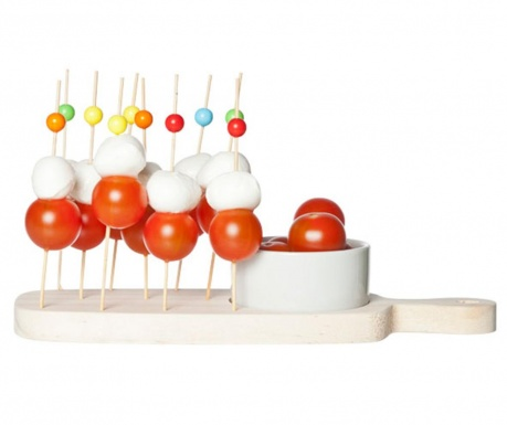 Комплект 11 клечки за аперитиви, купа с поставка Apery