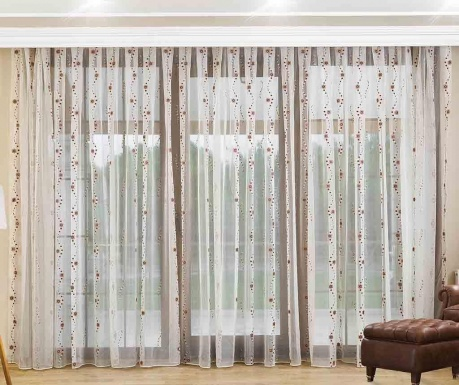 Curtain Hannah Burgundy 200x260 cm