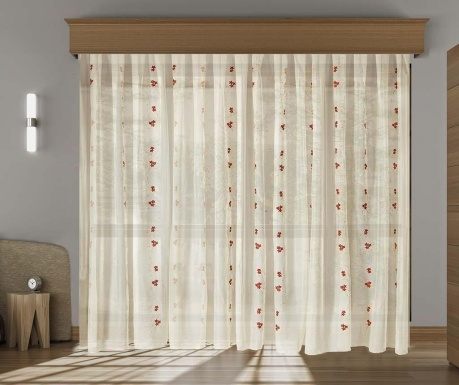 Curtain Lina Red 200x260 cm