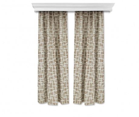 Set of 2 drapes Else Camel 150x260 cm