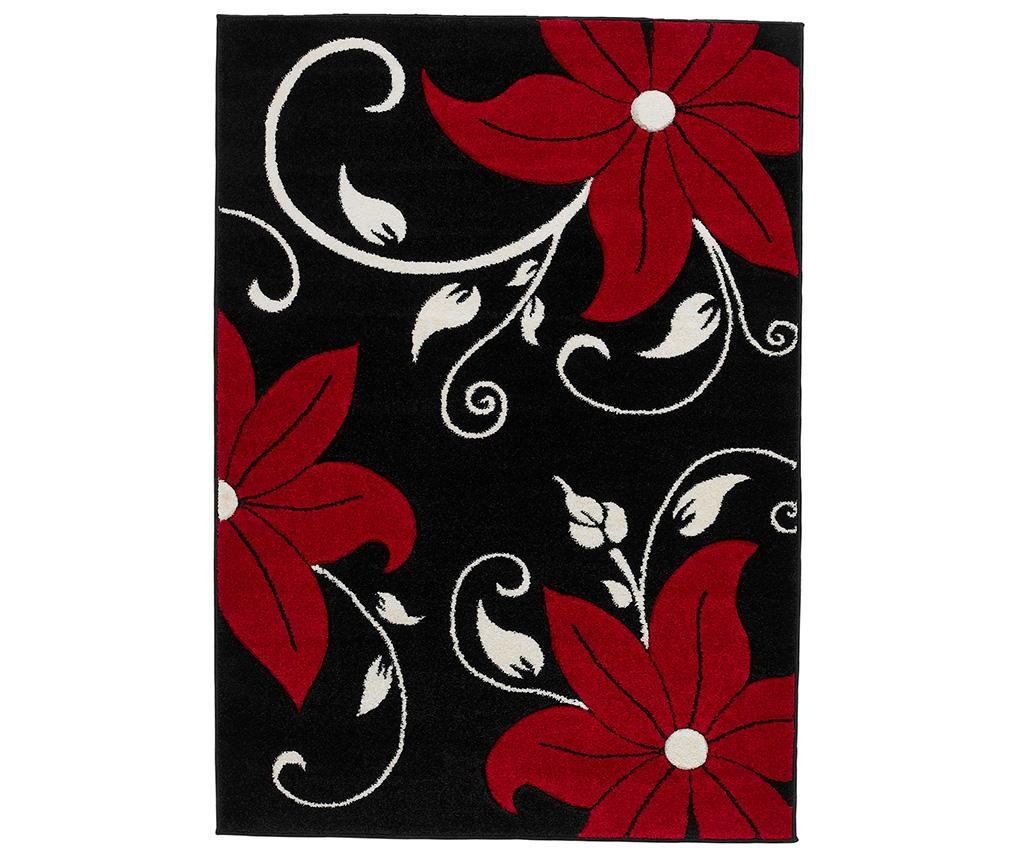 Koberec Verona Black and Red 80x150 cm
