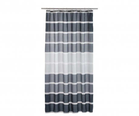 Sprchový záves Stripes Black 180x200 cm