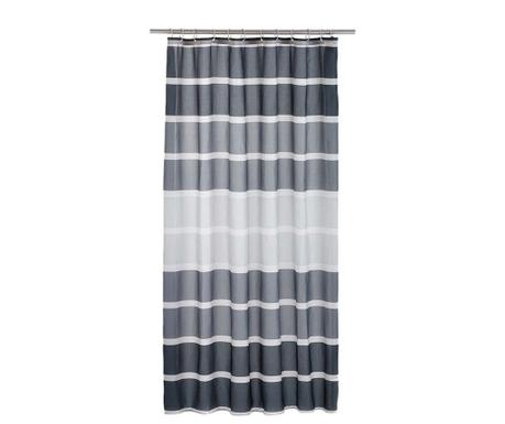 Завеса за баня Stripes Black 180x200 см