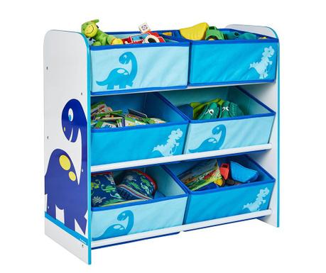 Шкафче с 6 коша Dinosaurs
