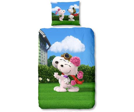 Komplet pościeli Single Ranforce Snoopy Love