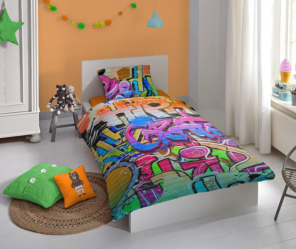 Posteljnina Single Ranforce Graffity 140x200