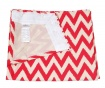 Zastor Chevron Red 140x270 cm