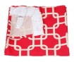 Draperie Squares Red 140x270 cm