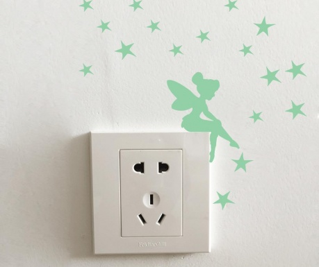 Комплект 19 флуоресцентни стикера Sprinkle Fairy Stars