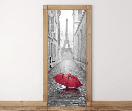 Стикер за врата Eiffel Tower Umbrella