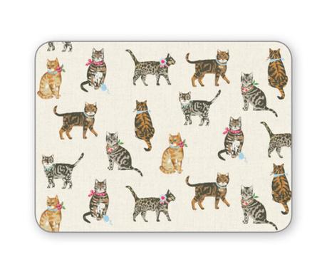 Set 4 individualuri Cats on Parade 21.5x29 cm