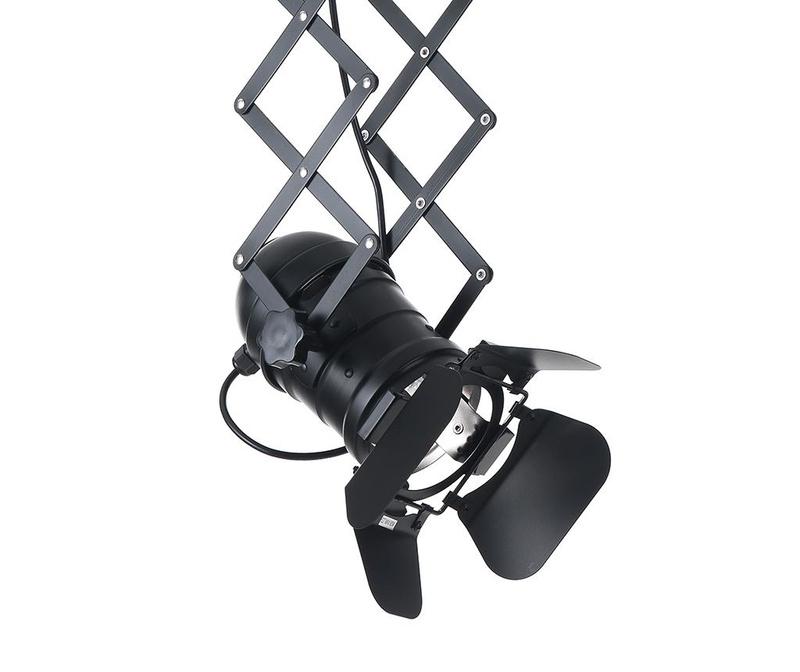 Stropna svetilka s sistemom za podaljšanje Extension Black