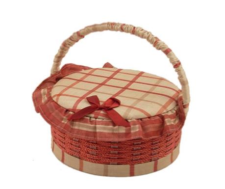 Cos cu capac pentru accesorii de cusut Oval Rosa Tonda
