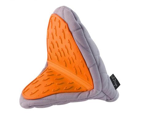 Livio Grey Orange Konyhai fogókesztyű