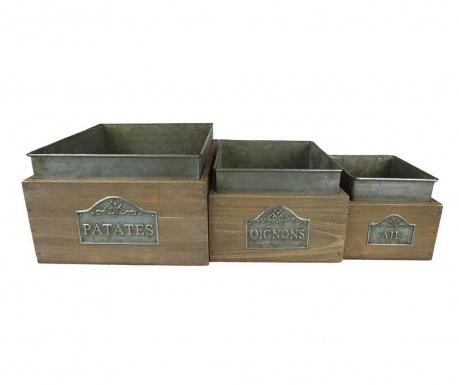 Zestaw 3 pudełek do przechowywania Vegetables