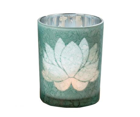 Świecznik Lotus Green