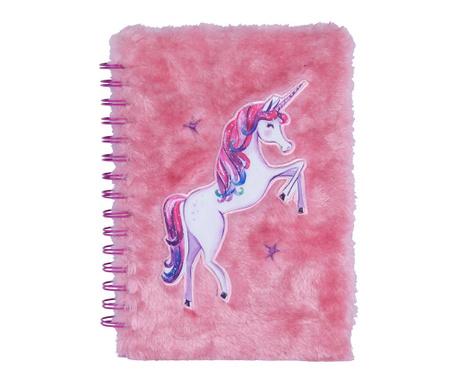 Dnevnik sa spiralom Unicorn in Pink