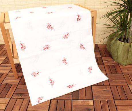 Долен чаршаф с ластик Uspa Mix White Red 160x200 см