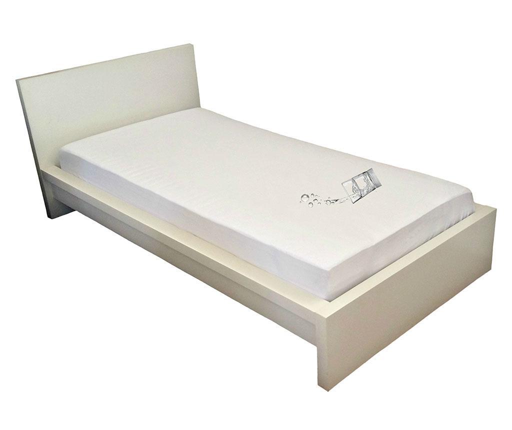 Husa impermeabila pentru saltea Plain White 100x200 cm