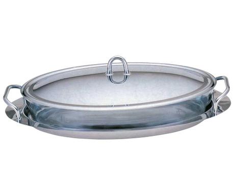 Zestaw naczynie do pieczenia z pokrywką i podstawką Clear 3 L