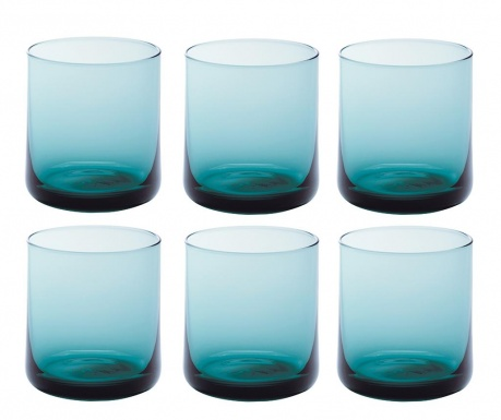Set 6 čaša za vodu Bloom Turquoise 250 ml