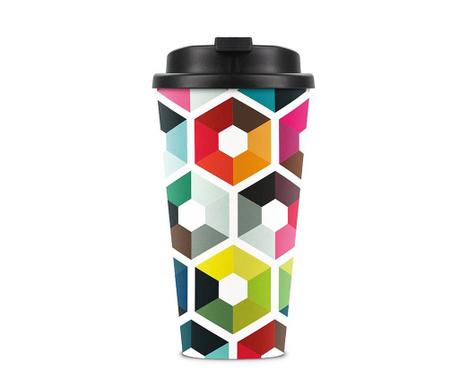 Travel Hexagon Hőszigetelt utazó bögre 450 ml
