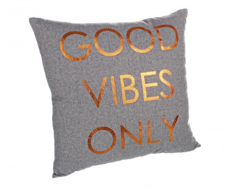 Perna decorativa Good Vibes Only 40x40 cm