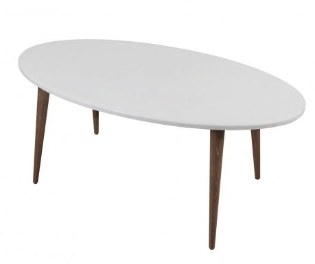 Oval Perfect White Kávézóasztal