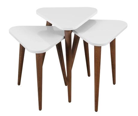 Trigon White 3 db Asztalka