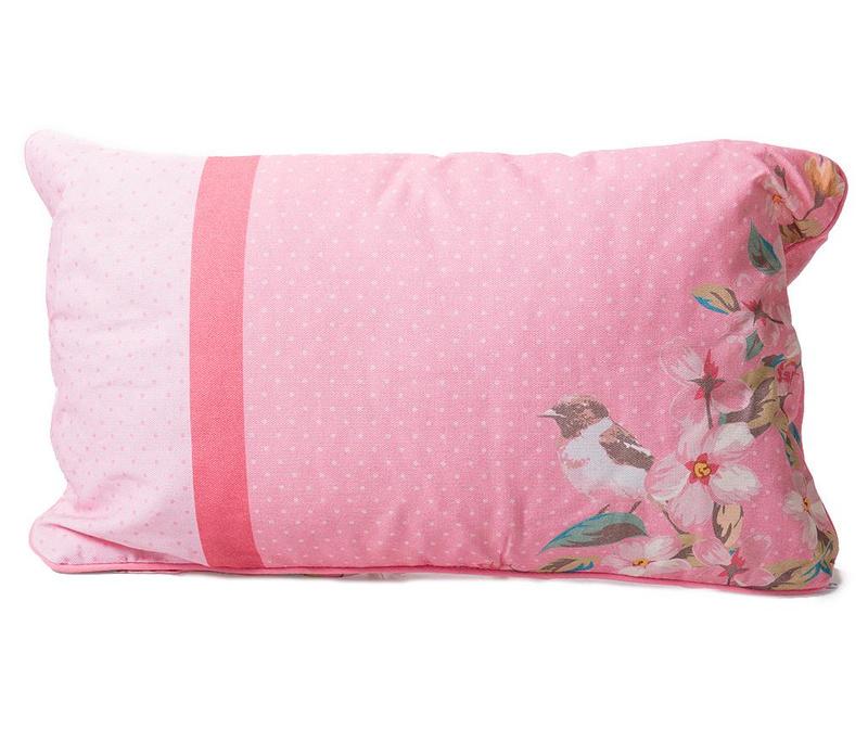 Ukrasni jastuk Bird on tree Pink 30x50 cm