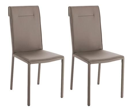 Sada 2 židlí Camy Dove Grey