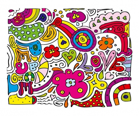 Tapet Peace Love 160x200 cm