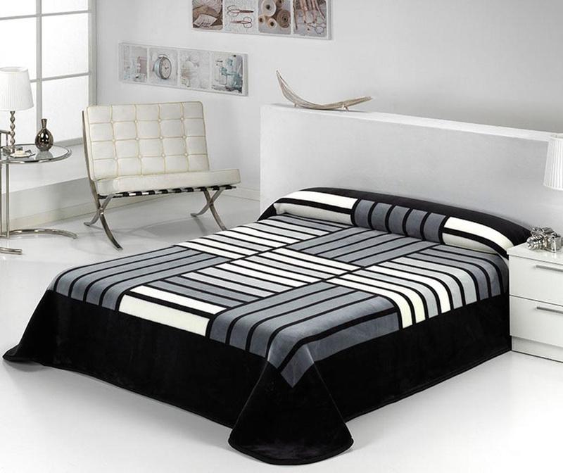 Deka Tokyo Stripes Black 220x240 cm