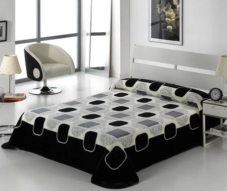 Κουβέρτα Tokyo Shapes Black 220x240 cm