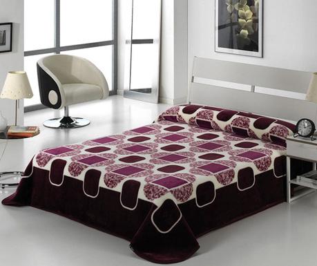 Κουβέρτα Tokyo Shapes Aubergine 220x240 cm