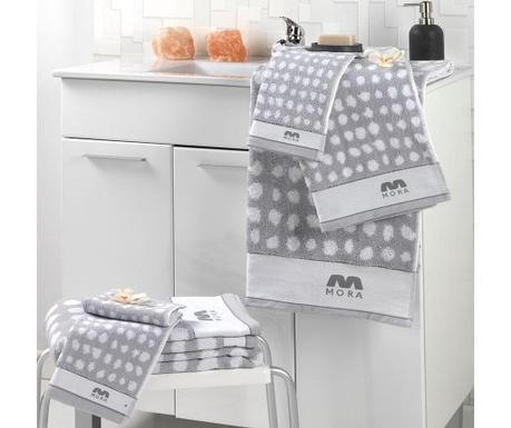 Σετ 2 πετσέτες μπάνιου Khali Grey 30x50 cm