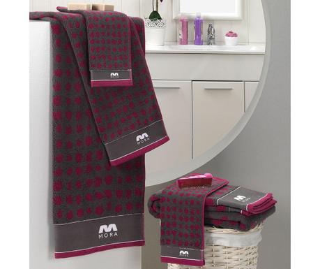 Σετ 2 πετσέτες μπάνιου Khali Purple 30x50 cm
