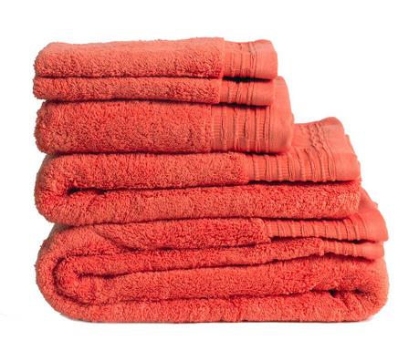 Σετ 2 πετσέτες μπάνιου Lisa Coral 30x50 cm