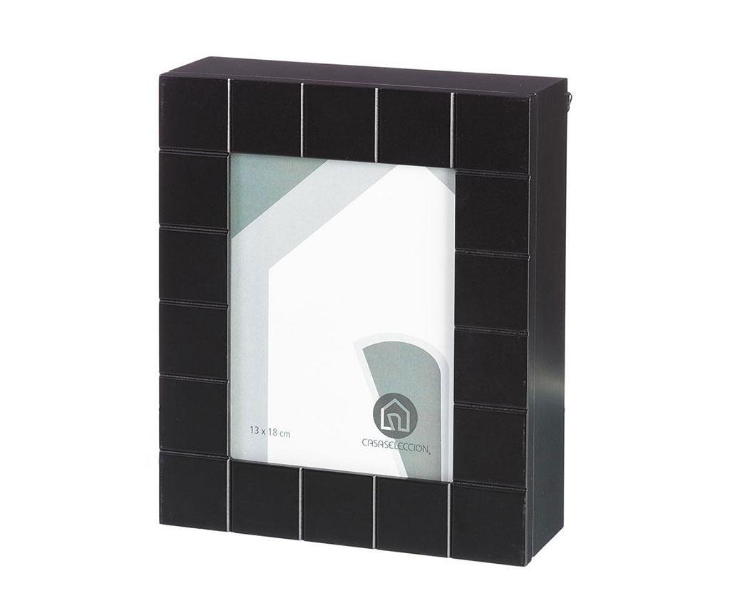 Black Kulcstartó szekrényke fényképtartóval