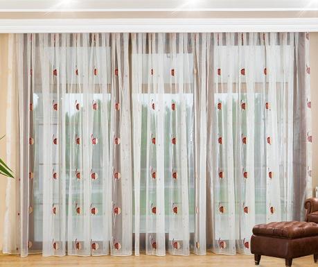 Záclona Charlene Burgundy 200x260 cm
