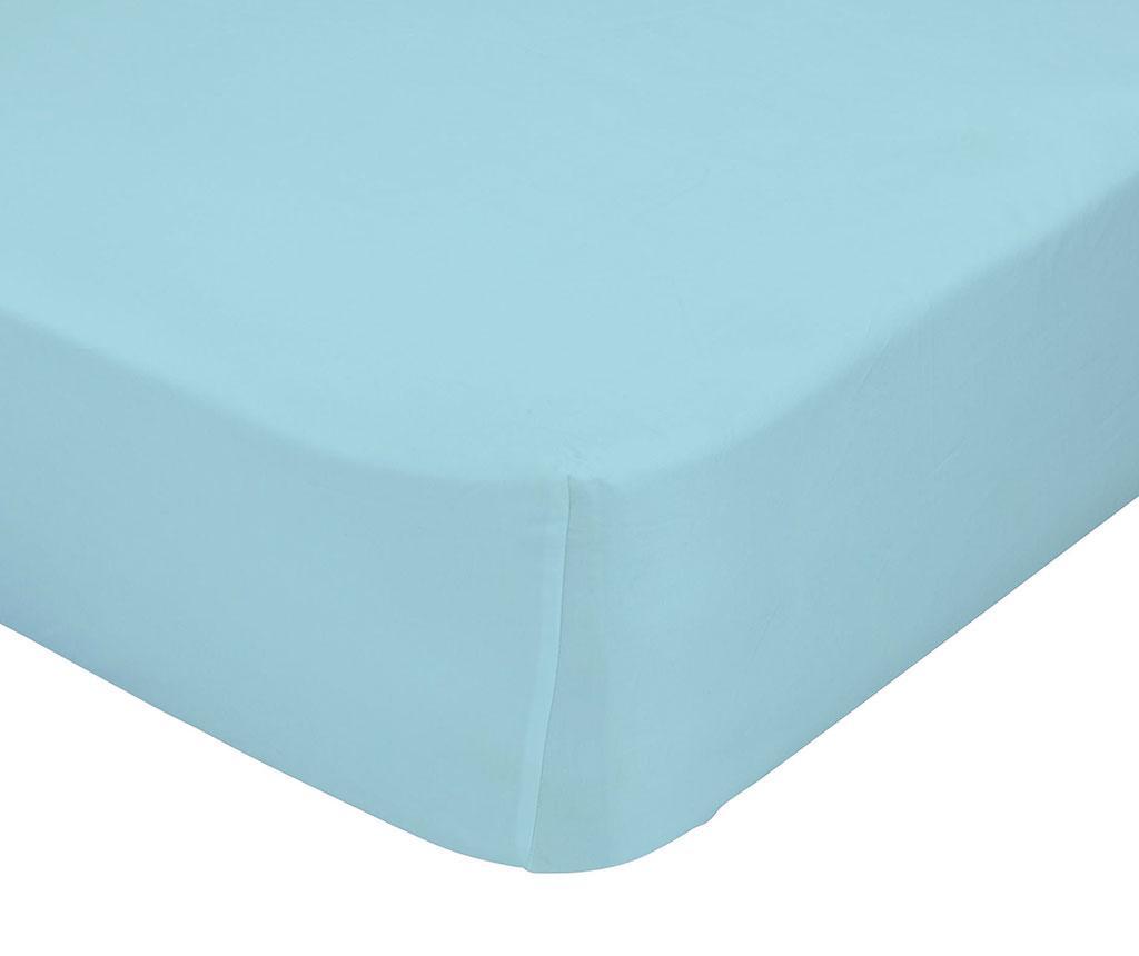 Plahta s elastičnom gumicom Basic Blue 90x200 cm