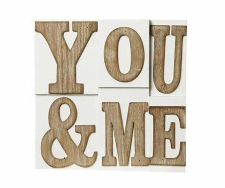 Nástenná dekorácia You and Me Block